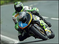 Ryan Farquhar in TT action