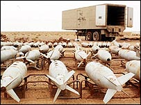Iraqi chemical bombs awaiting destruction, 1998