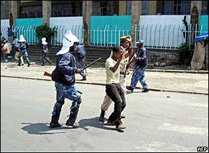 Police beat detainee in Addis Ababa