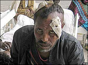 Injured man in Addis Ababa hospital