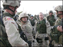 US officers in Iraq
