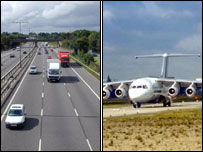 Road and air services