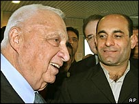 Israeli PM Ariel Sharon with Azzam Azzam