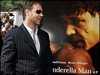 Russell Crowe in front of Cinderella Man poster