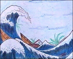 A Sri Lanka child's tsunami painting