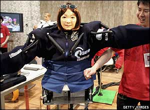 Image of a prototype robot at the 2005 World Exposition in Japan
