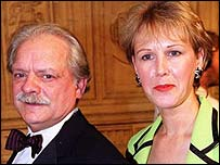 Sir David Jason with partner Gill Hinchcliffe