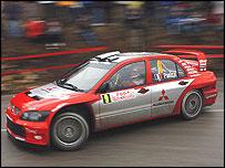 Gilles Panizzi in a Mitsubishi in 2004