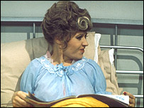 Sybil Fawlty in hospital bed
