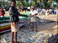 Muslims fishermen in Batticaloa, eastern Sri Lanka