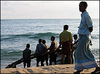Muslim fishermen in eastern Sri Lanka
