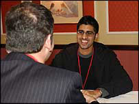 Speed-networking - photo courtesy of Derwent Living