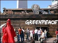 Manifestación de Greenpeace en Buenos Aires