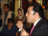 Probable presidential candidate Ayman Nour. Photo taken by Hugh Sykes