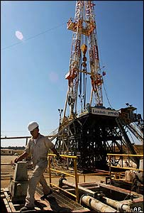Oil field in Tel Aviv