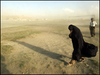An Afghan woman in Kabul