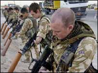 Black Watch soldiers return to Basra