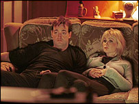 An unimpressed David and Denise from the Royle Family