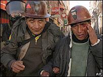 Mineros arrestados en Bolivia