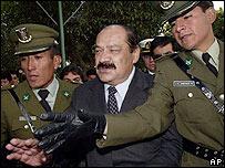 El presidente del Senado, Hormando Vaca Diez, llega a Sucre