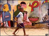 Grafitti about HIV-Aids, Maputo
