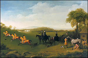 The Duchess of Richmond and Lady George Lennox Watching the Duke's Racehorses at Exercise, 1759-60 � The Trustees of the Goodwood Collection