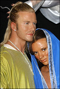 Waxworks of David and Victoria Beckham