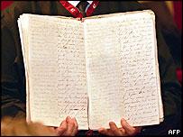 Napoleon's memoirs displayed at a Paris auction house