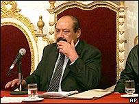 Hormando Vaca Diez, presidente del Senado de Bolivia, al inaugurar sesi�n del Congreso en Sucre