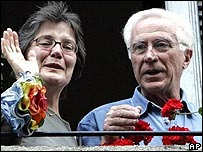 Germana, left, and Fabio Cantoni, the parents of Clementina Cantoni in Milan