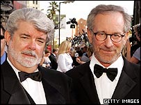 George Lucas (l) and Steven Spielberg
