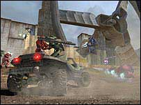 Screen shot from Halo 2
