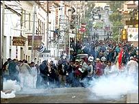 Protesta en Bolivia