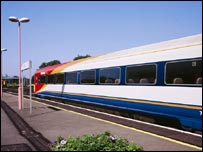 South West Trains service at station