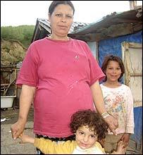 Rukije Mustafa and daughter Cassandra (front)