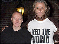 Midge Ure and Bob Geldof