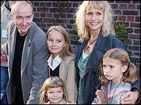 Midge Ure and family