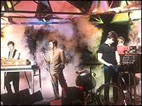 Ultravox, performing on Top of the Pops in 1981