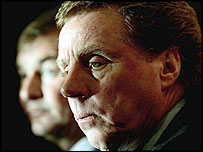 New Southampton boss Harry Redknapp (right) alongside chairman Rupert Lowe
