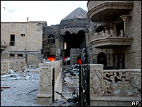 Bombed Mosul church
