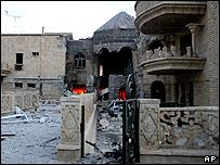 Bombed Mosul church