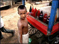 A child working in India