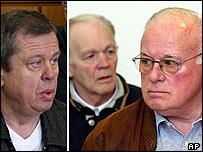 From left, Rudolf Richter, Lothar Ackermann and Wilfried Ackermann