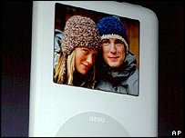 Digital images on an Apple iPod