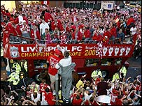 Liverpool victory celebrations in May