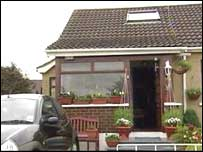 The gang broke into this house in Ballymoney