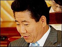South Korean President Roh Moo-hyun,  archive picture