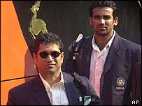 Sachin Tendulkar and Zaheer Khan