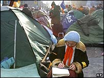 Protesters' camp in Kiev