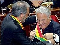 Gonzalo Sánchez de Lozada y Carlos Mesa